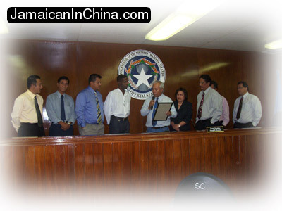 image of Walt receiving CNMI Senate Resolution 15-54